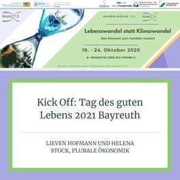 Kick Off: Tag des guten Lebens 2021 Bayreuth