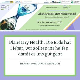 Planetary Health: Die Erde hat Fieber, wir sollten ihr helfen, damit es uns gut geht